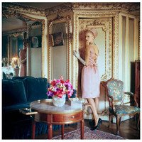 Mark Shaw Editioned Photograph-Model in Apartments of Suzanne Luling #3, 1960   1stdibs.com