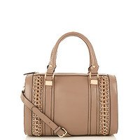 Mink Chain Trim Bowler Bag