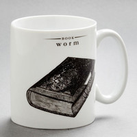 Bookworm to the Wise Mug | Mod Retro Vintage Kitchen | ModCloth.com