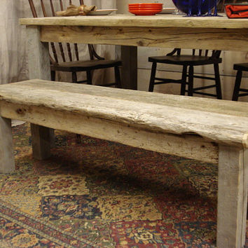 "Driftwood Bench for Full Size Bed or 65"" Table. (54 x 15 x 17H)"