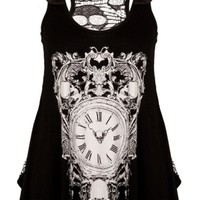 Time Lord Skull Tank - Clothing - Tragic Beautiful buy online from Australia