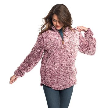 Heather Sherpa Pullover with Pockets in Windsor Wine by The Southern Shirt Co. - FINAL SALE