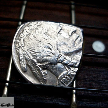 Vintage Coin Mandolin Guitar Pick -- US Buffalo Nickel