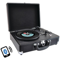 Pyle Home Bluetooth Classic Turntable With Vinyl To Mp3 Recording