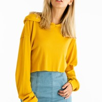 Hood As New Top in Mustard