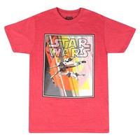 Star Wars X-Fighters Full Color Graphic Men's Red T-shirt
