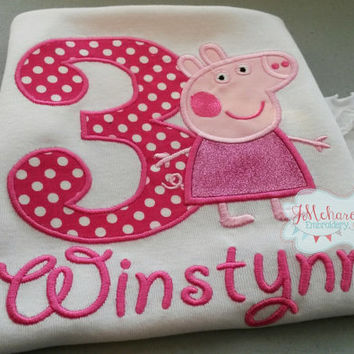 Normal Peppa Pig Fairy Birthday Custom Tee Shirt - Customizable -  Infant to Youth