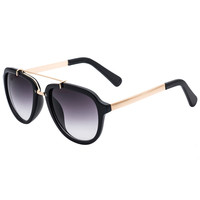 Black Greater Part Frame Gradient Lens Cat Sunglasses