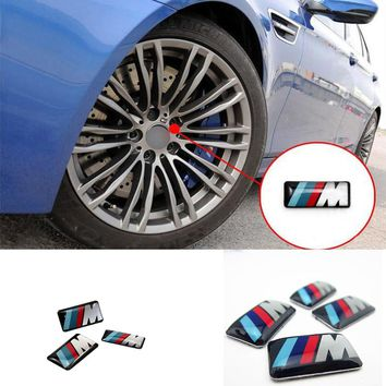 3 pc/lot Cool Car Auto Decoration Badge Stickers M Logo Metal 3D Car Sticker For Steering Wheel Gear for BMW M3 M5 X1 X3 X5 X6