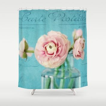 french ranunculus Shower Curtain by Sylvia Cook Photography