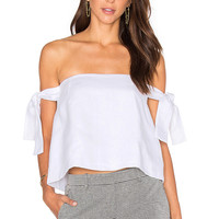 SIR the label Kobi Off The Shoulder Top in White | REVOLVE