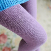 Fashion Design Autumn Winter Knitted Stripe  Stocks Pantyhose Elastic Striped Solid Color Women Girl Socks Thigh High Sock