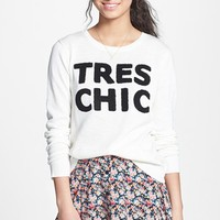 Love By Design Textured French Knit Sweater (Juniors)