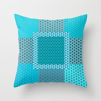 Abstract Turquoise Pattern C1 Throw Pillow by alishadawn