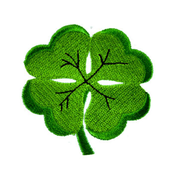 Lucky Four Leaf Clover Patch Iron On Applique Alternative Clothing St. Patty's Day