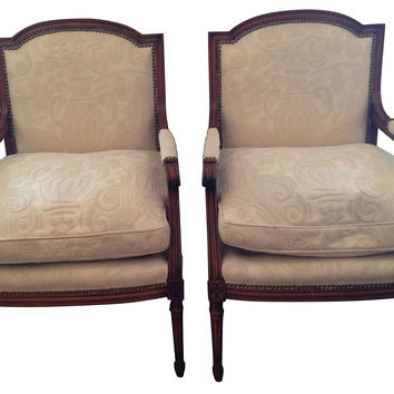Louis XVI-Style Chairs, Pair