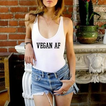 Vegan AF One Piece Swimsuit