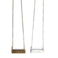 """""""CALI"""" Stamped Necklace"""