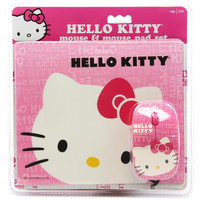 Hello Kitty Mouse and Mouse Pad Set Combo Pink