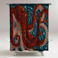Shower Curtain Octopus Custom Art Print On