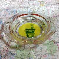Vintage Holiday Inn Ashtray Motel and Hotel Souvenir clear glass with embossed design