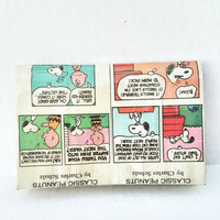 Classic Peanuts - Snoopy - Charlie Brown - Newspaper - Comics - Mini Clutch Bag - Pouch - Purse