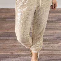 Sand Sequin Jogger