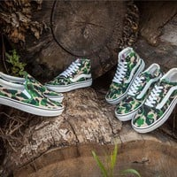 VANS X Aape Camo Lazyman Running Shoes 36-44