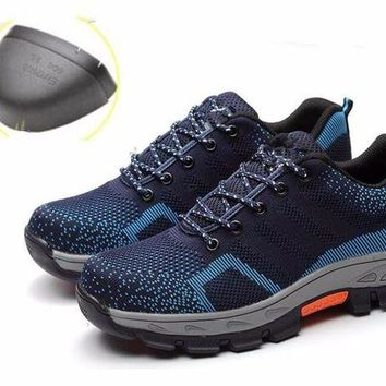 DCK7YE Men Anti-electric Oxfords Boots Work Safety Shoes Steel Toe Cap Anti-Smashing Puncture
