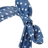 Chambray Star Headwrap