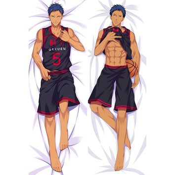 Kuroko no Basket Hot Japanese Anime Hugging Pillow Cover Case Pillowcases Decorative Pillows Double-Sided 2Way 2WT 50X160CM
