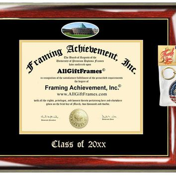 AllGiftFrames Custom Diploma Frame Embossed Best Chicago State University Graduation Degree CSU Frame Double Mat Campus Fisheye Picture Frame Cheap Degree Certificate Holder Graduate Gift
