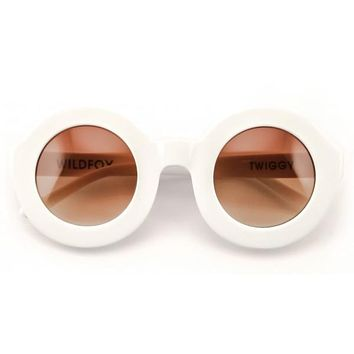 Wildfox - Twiggy White Sunglasses