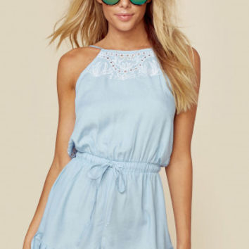 CUTWORK PLAYSUIT