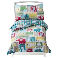 Sumersault Bold Animals Toddler Bedding Set