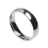 6mm Stainless Steel Comfort Fit Plain Wedding Band Ring Size 5-14