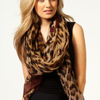 Tilly Border Animal Print Scarf