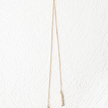 Matchstick Lariat Necklace