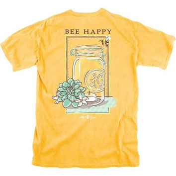 Bee Happy - Adult T-Shirt