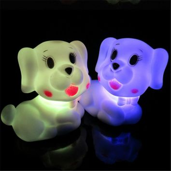 Seven Color Changing LED Night Lamp Xmas Mood Lamp Night Lamp Party Decoration Cute Dog Light For Baby Sleep Lights 1PCS