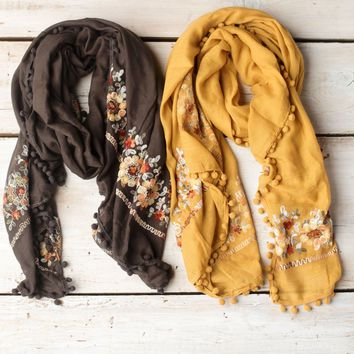 Touch of Floral Scarf