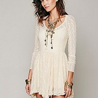 Long Sleeve Lace Slip