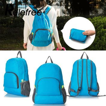 Relefree 1Pc Hiking Backpacks Nylon Waterproof Foldable Backpack Camping Rucksack Outdoor Sports Day Packs Travel Storage Bags