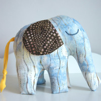 Elephant Stuffed Soft Toy, African Batik