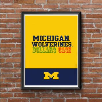 Michigan Wolverines Split Photo Poster