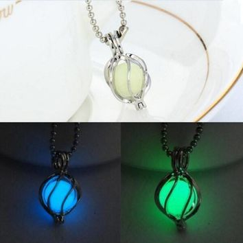 Glowing Steampunk Magic Locket Pendant Necklace