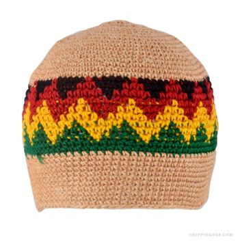 MultiColor Skull Cap Rasta on Sale for $9.99 at The Hippie Shop