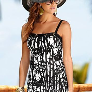 Black Bamboo (BLB) Long Tankini Top