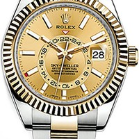 326933 - Rolex Sky-Dweller Gold & Steel Mens Watch