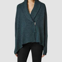 Womens Able Cardigan (Forest Marl) | ALLSAINTS.com